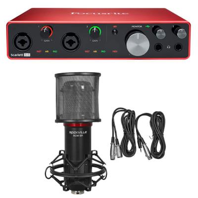 Focusrite SCARLETT 8I6 3rd Gen 192KHz USB Audio Recording Interface and Studio Mic