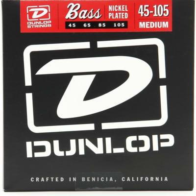 Dunlop DBN45105 Nickel Wound Bass Strings, Medium
