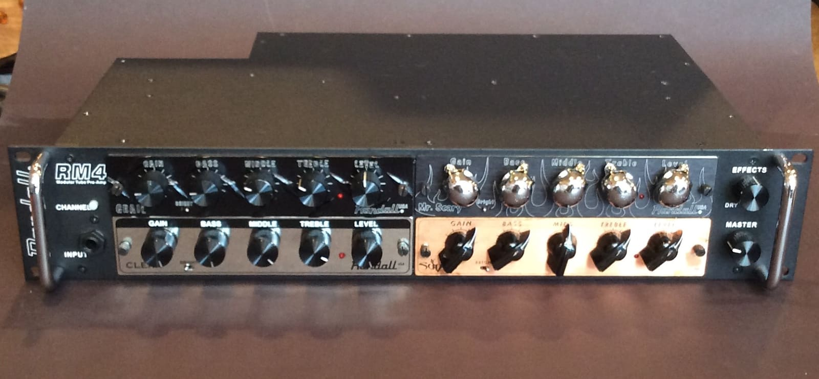 Randall RM4 Tube Pre-Amp Rackmount Chassis w/ 4 NOS Modules Included