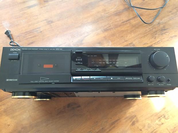 Denon DRM-400 Stereo Cassette Deck 90's Black