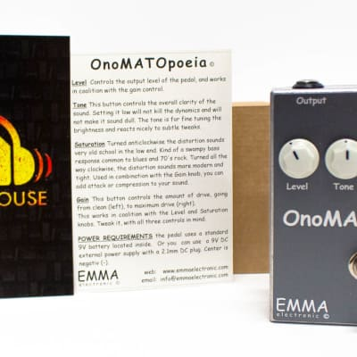 EMMA Electronic OnoMATOpoeia OM-1 Booster Overdrive Guitar Effect Pedal - NEW