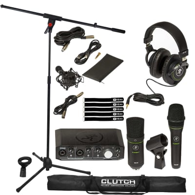 Mackie Producer Bundle Home Recording Interface Microphone Headphones w Stand Pk