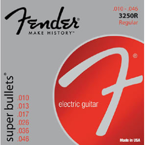 Fender Super Bullets Regular Electric Guitar Strings 10-46 for sale