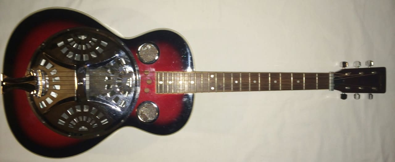 antares db 25 dobro resonator guitar electric acoustic with reverb. Black Bedroom Furniture Sets. Home Design Ideas