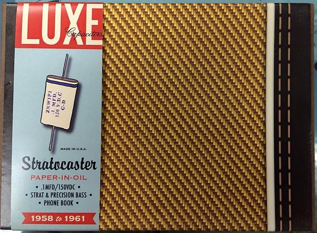 Luxe 1958-1961 Tele/Strat/P-Bass  1uf/150v Repro Phonebook Cap