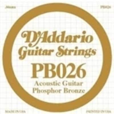 D'Addario Phosphor Bronze Single String