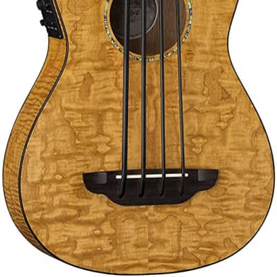 Luna Bari-Bass Ukulele with Preamp-Quilt Top