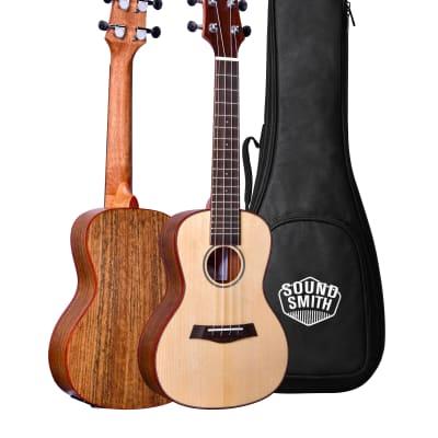 Sound Smith Acoustic Electric Spruce & Walnut Ukuleles - SW 2020 Spruce/Walnut for sale