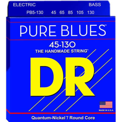 DR Pure Blues 5-String Electric Bass Strings - 45-130