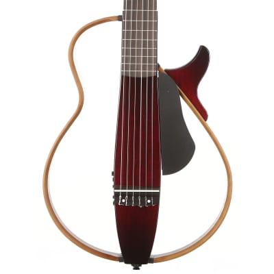 Yamaha Silent Guitar SLG200N Nylon String Crimson Red Burst for sale