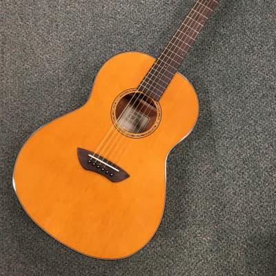 Yamaha CSF TA Parlor Guitar TransAcoustic Built-in Reverb & Chorus  2019 Vintage Natural Gloss