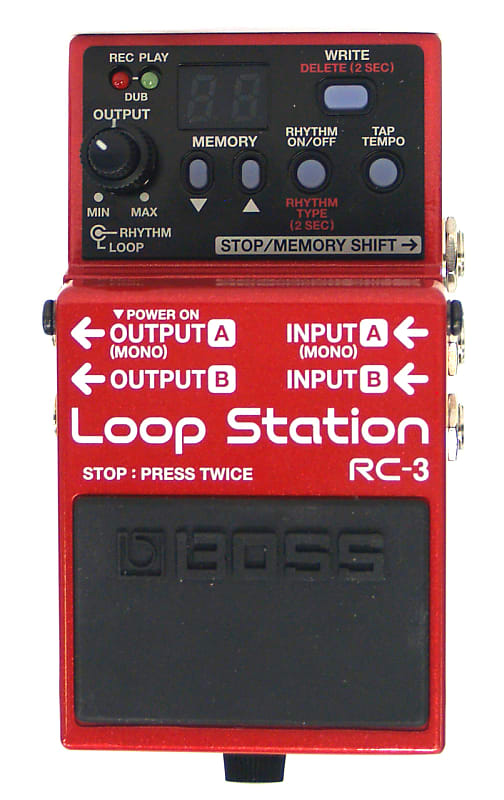 boss rc 3 looper pedal previously owned bill 39 s music reverb. Black Bedroom Furniture Sets. Home Design Ideas