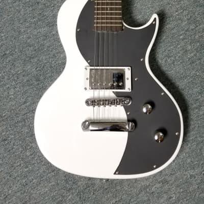 Luna electric black & white guitar for sale