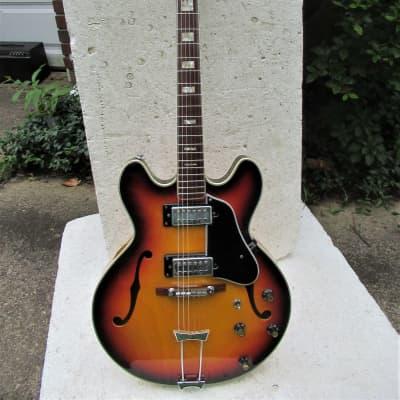 Encore  335 Style Guitar, 1960's, Japan,  Sunburst, Excellent Condition for sale