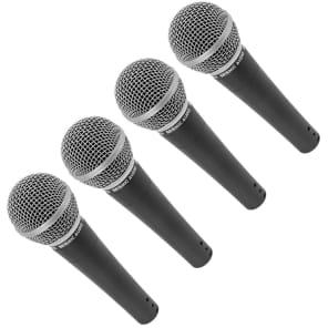 Seismic Audio SA-M30FourPACK Dynamic Cardioid Vocal Mics (4-Pack)