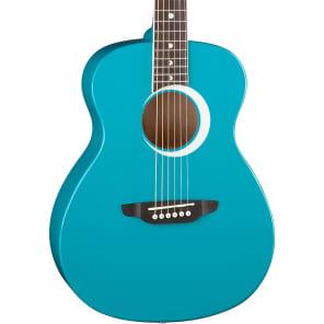 Luna Aurora Borealis 3/4 Size Acoustic Guitar Teal Sparkle