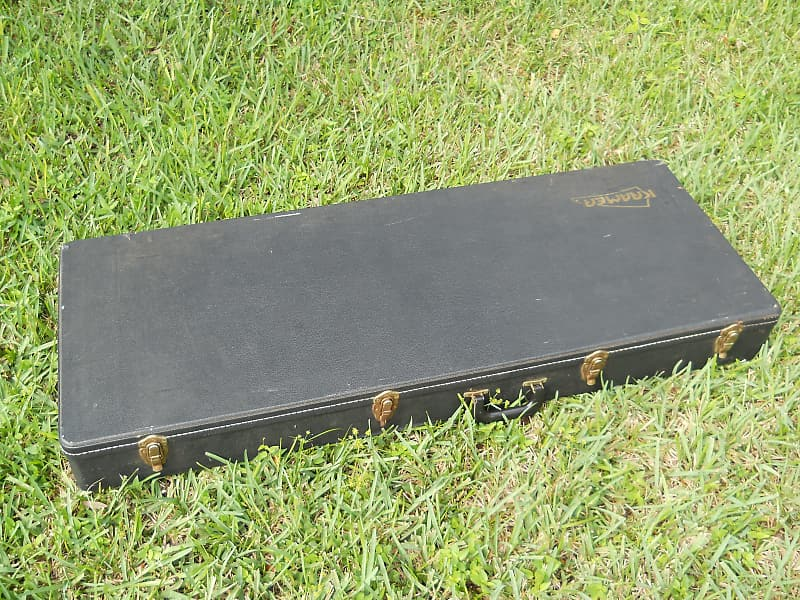 """Kramer Hard Shell Guitar Case 1980s Very Large Dimensions 51 1/2""""L x 20""""W x 5 1/2""""D Exterior image"""