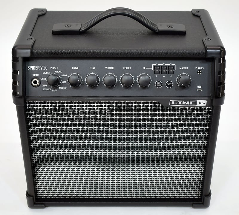Line 6 Spider V 20 20W 1x8 Guitar Combo Amp - Previously Owned