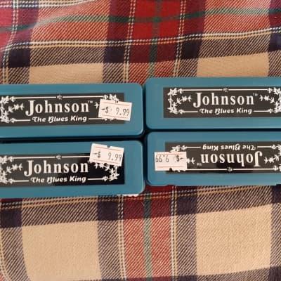Johnson Blues King Harmonica - Lot Of 4
