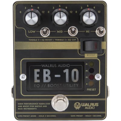 Walrus Audio EB-10 Black Preamp, EQ and Boost effects pedal for sale