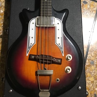 Vintage 1960 Airline Pocket Bass Sunburst for sale