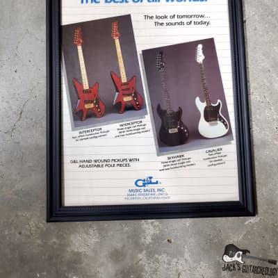 "G & L Guitars ""The Best of All Worlds"" Framed Vintage Guitar Advertisement (1984)"