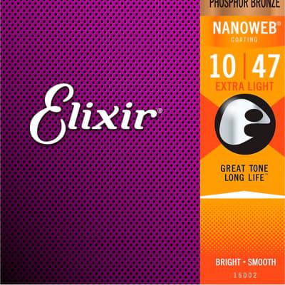 Elixir Acoustic Phosphor Bronze Extra Light with NANOWEB Coating