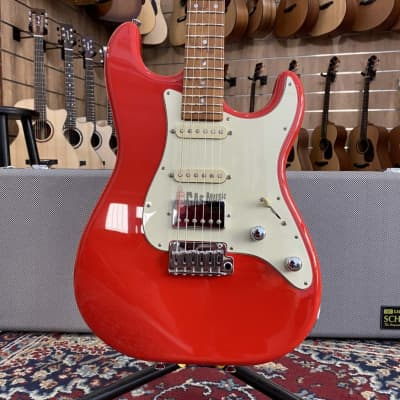 Schecter Custom Shop Traditional Route 66 Santa Fe HSS Sunset Red for sale