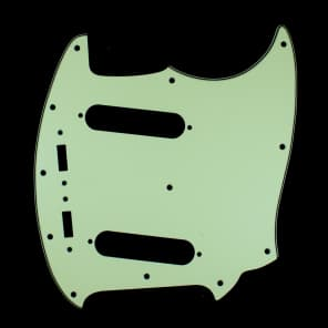 Replacment Pickguard For Mustang Classic Series style ,3Ply Vintage Green