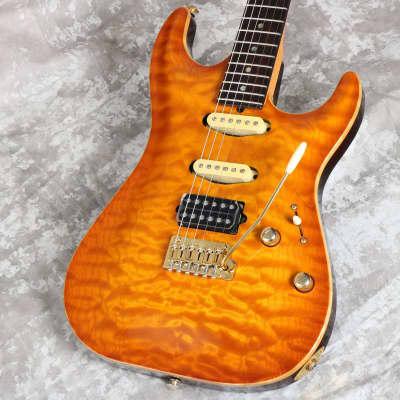 Suhr Custom Brazilian Rosewood Fingerboard Carve Top Standard Quilt Maple Top Honey Burst 03/08