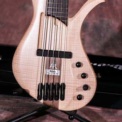 Ibanez AFR5FMP 2019 Natural Flat 5 string Affirma Premium bass open box mint