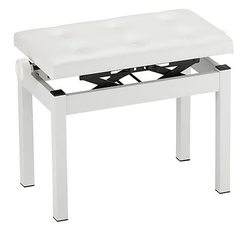 Excellent Korg Pc 770 Height Adjustable Piano Bench With Wide Seating Surface White Theyellowbook Wood Chair Design Ideas Theyellowbookinfo