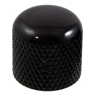 Dome Top Knob for Guitar & Bass-Black