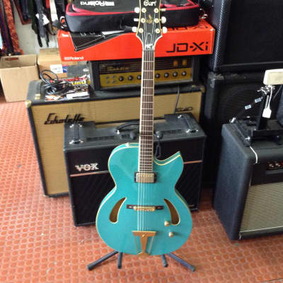 Cort J Triggs Archtop elctric guitar teal for sale
