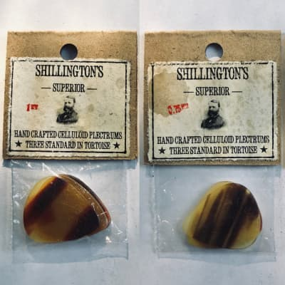 1920's-1940's NOS Celluloid Picks - 3x (.75mm) Standard in Tortoise Shell -