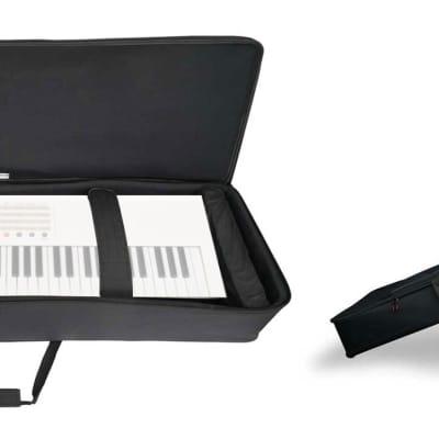 Rockville 61 Key Keyboard Case w/ Wheels+Trolley Handle For E-MU LONGboard 61
