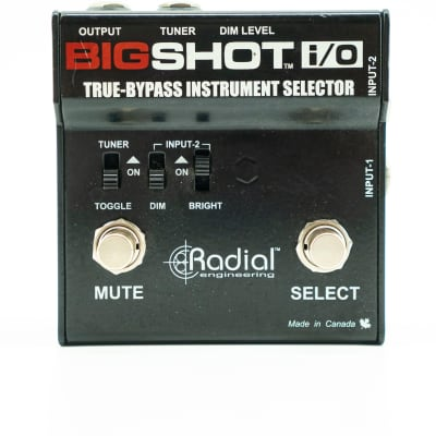 Used Radial Bigshot i/O True-Bypass Selector Switch