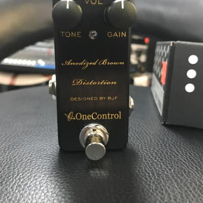 One Control Anodized Brown Distortion Pedal by BJF