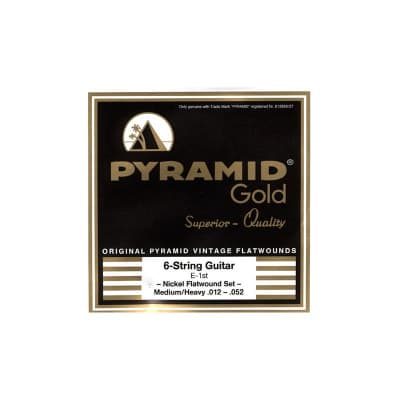 Pyramid Electric Gold Flatwound Strings 12-52