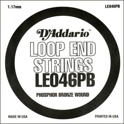 D'Addario LE046PB Phosphor Bronze .046 Loop End Wound String.