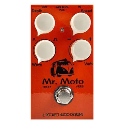 J Rockett Audio Designs Mr Moto Tremolo Guitar Effects Pedal w/ Spring Reverb for sale