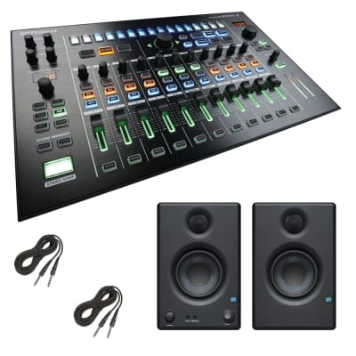 "Roland MX-1 AIRA Mix Performer + PreSonus Eris E3.5 3.5"" 2-Way 25W Nearfield Monitors (Pair) and Cables."