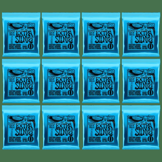 Ernie Ball 2215 Extra Slinky Strings 8-38 12 Pack Bundle image