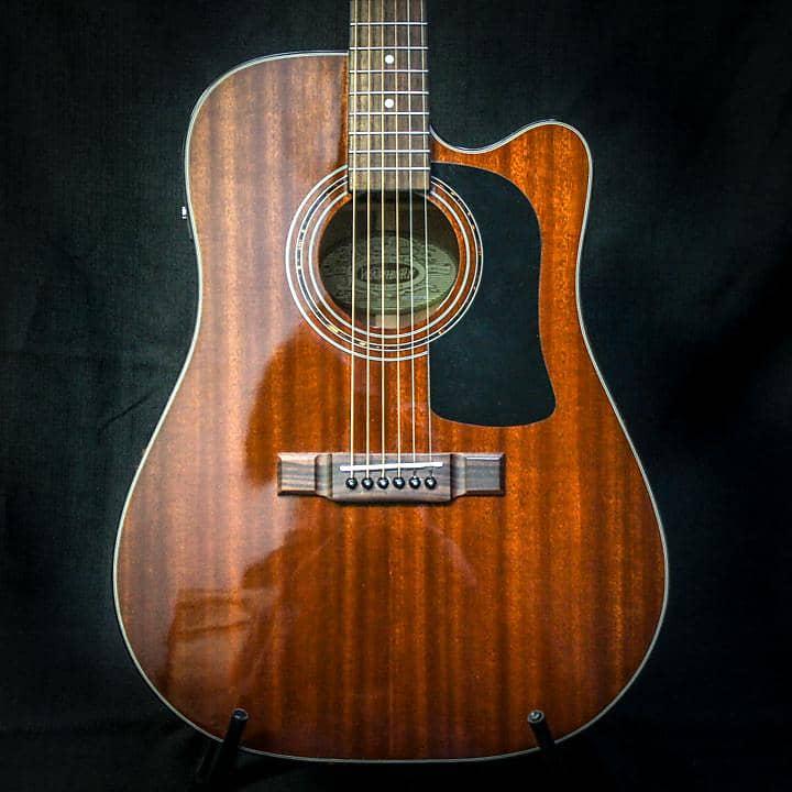 used washburn d140mciq acoustic electric guitar w bag 052119 reverb. Black Bedroom Furniture Sets. Home Design Ideas