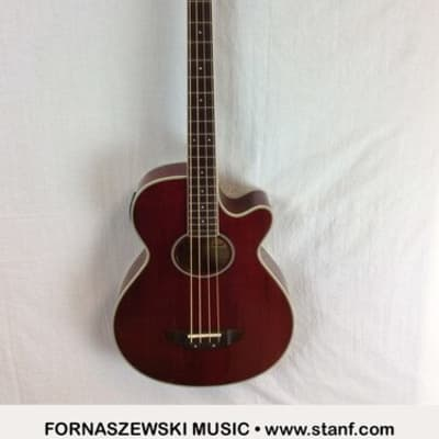 Pre-owned Hohner Cut-away Acoustic-Electric Bass Guitar - 80801384 HAB40TR for sale
