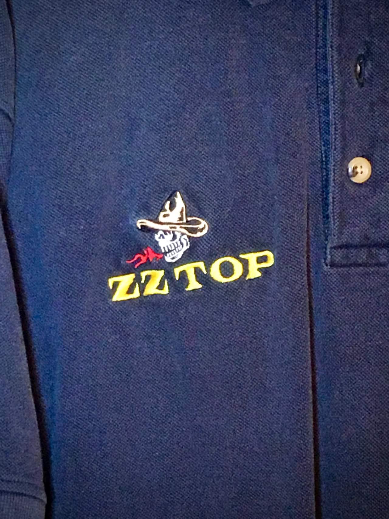 zz top quotmescaleroquot tour crew golf shirt 2000s xl reverb