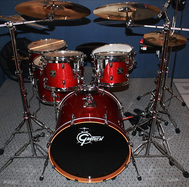 gretsch catalina maple 2007 limited edition red sparkle drum reverb. Black Bedroom Furniture Sets. Home Design Ideas