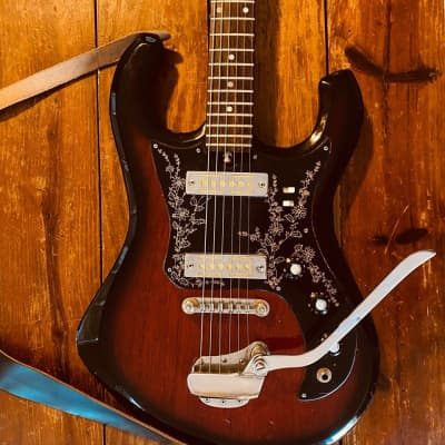 Kimberly Bison Sunburst 1968 Kawai / Teisco made for sale