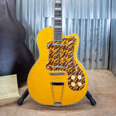 Kay K161V Thin Twin Electric Guitar Vintage Reissue-Artist Blonde WOHSC for sale
