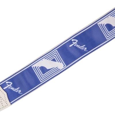 """Genuine Fender® 2/"""" Monogrammed Custom color Strap Lake Placid Blue 099-0627-002"""
